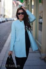 ZARA LIGHT BLUE STRAIGHT CUT COAT SIZE LARGE (B1) REF: 1255 014
