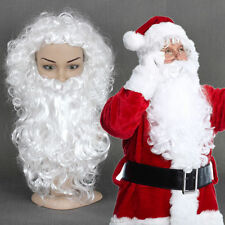 Santa Beard And Wig Set Christmas Santa Claus Costume Cosplay Wig White Curly