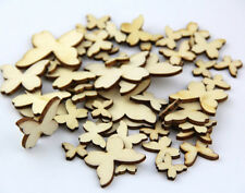 50pcs Wooden MIXED BUTTERFLY Shaped Card Scrapbooking Are Craft Embellishment