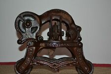 ANTIQUE HAY/BARN TROLLEY LOUDEN JUNIOR BARN  CAST IRON PULLEY Pat. Feb 8, 1899