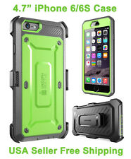 Genuine iPhone 6/6S Supcase Unicorn Beetle Full Body Rugged Holster Case Green