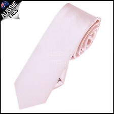 MENS BABY / LIGHT PINK SKINNY 5CM TIE necktie thin narrow slim