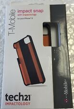 New in Box Impact Snap Case Tech21 for Apple Iphone 5 Black with orange inside