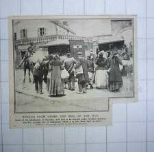 1917 Some Inhabitants Of Noyelles Rescued From Germans Getting Into Ambulance