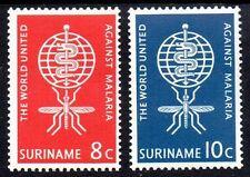 Suriname - 1962 Fight malaria Mi. 421-22 MNH