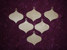 Ornaments Unfinished Wood Cut Outs Wooden Crafts 6pcs Artistic Craft Supply #02