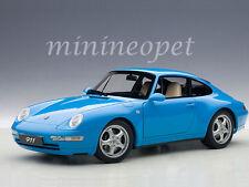 1:18 AUTOart PORSCHE 911 993 CARRERA (1995) - Blau  +kostenlose Vitrine
