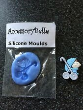 Sugarcraft Cake Decorating Baby in Buggy Pushchair Silicone Mould Fimo Chocolate