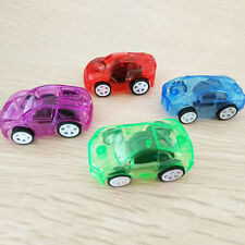 Newly Creative Plastic Mini Clear Child Car Vehicle Kids Toy Pull Back Delicate
