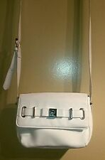 Lulu Guinness White Faux Leather,Strap Front Detailed Cross-body /Shoulder bag !