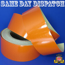 REFLECTIVE TAPE 50mm / 3m ORANGE Honeycombs TRUCK TRAILER CHASSIS CARAVAN BOAT