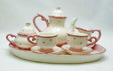 CHILDREN'S TEA SET -  PINK POLKA DOT CHILDRENS TEA SET