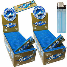 Cartine SMOKING Blu CORTE Ultra Sottili blue 2 box 100 Libretti