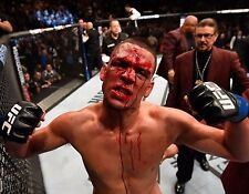 NATE DIAZ 8X10 PHOTO UFC CHAMPION MMA PICTURE BLOODY