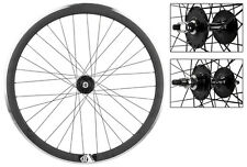 Origin8 Matte Blk 32h Track Bike Fixed Gear Aero Wheelset 42mm