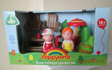 BNIB ELC HAPPYLAND ROSE COTTAGE GARDEN/BARBECUE SET-includes 2 FIGURES