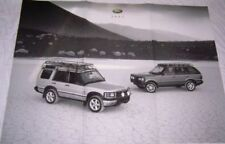 2001 LAND ROVER BROCHURE / POSTER -RANGE ROVER HSE -RANGE ROVER SE-DISCOVERY