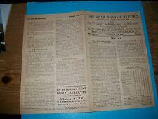 ASTON VILLA  v CHELSEA  FA CUP February 12th  1945/6