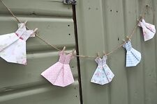 Vintage Shabby Chic Floral Cath Kidston Pretty Dress Bunting Garland Home Decor