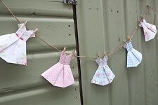 Vintage Shabby Chic Floral Vestido Bonita Cath Kidston Banderines Guirnalda Decoración del hogar