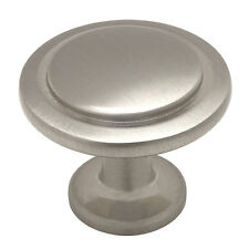 Satin Nickel Round Cabinet Knobs #5560SN
