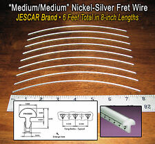 6 feet of Medium/Medium Premium Jescar Nickel-Silver Fret Wire/Frets 10-08-01