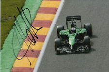 ANDRE LOTTERER CATERHAM F1 HAND SIGNED 6X4 PHOTO 9.