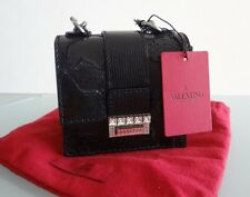 3.7K Auth New VALENTINO COUTURE Evening EXOTIC Skin SWAROVSKI Crystal PURSE Bag