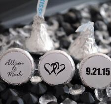 216 Personalized Names and Hearts Hershey Kiss Labels Stickers Favors