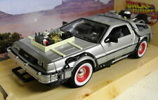 Welly scala 1/24 DELOREAN TIME MACHINE RITORNO AL FUTURO Parte 3 Modello Auto