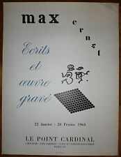 Max ERNST Affiche Lithographie Union 1964 Surréalisme art Abstrait abstraction