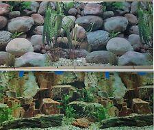 """Aquarium Background Decoration 48"""" x 18.5"""" 2 Sided Rocky Aquarium"""