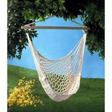 Hammock Chair Indoor Out Garden Porch Swing  - New