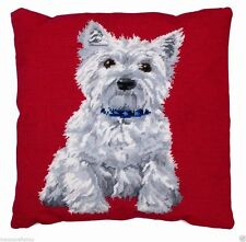 Needlepoint tapestry kit (anchor living) ALR36 white westie 40x40cm