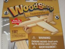 Wood Shop Real Wood Model Kit - Build A Wooden AIRPLANE, Toy, Craft Kit For Kids