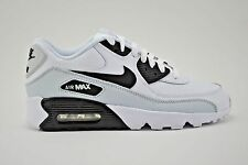 Nike Air Max 90 LTR GS Running Shoes Youth Size 6.5Y White Black Grey 833412 104