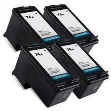 4 Pack HP 74XL Ink Cartridge - Deskjet D4260 D4263 D4268 D4280 D4360 D4363