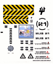LEGO 7774 - Aquazone: Aquaraiders II - Crab Crusher - STICKER SHEET