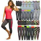 2pcs Ladies Sportswear Yoga Workout Tracksuit Fitness Gym Tank Top & Capri Pants
