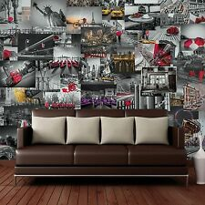CREATIVE COLLAGE CITY SCAPES DESIGNER WALL MURAL - 64 PIECE WALLPAPER DECOR
