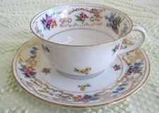 Royal Bayreuth Dresden Flowers Footed Cup and Saucer ROB327