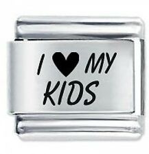I LOVE MY KIDS - Daisy Charms by JSC Fits Classic Size Italian Charm Bracelet