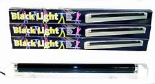 "NEW BLACK LIGHT FIXTURE W BULB 18"" party lights lamps GLOW IN DARK halloween"