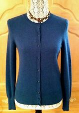 NWT LORD & TAYLOR 100% Two-Ply CASHMERE Cardigan ~ S ~ Deep Teal