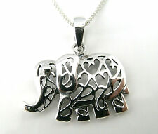 Funky 925 Sterling Silver Filigree Elephant Pendant without silver chain