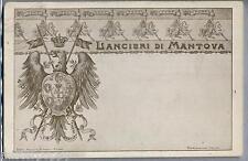 Lancieri di Mantova WWI Art Noveau PC Viaggiata 1913