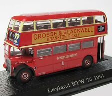 AUTOBUS LEYLAND RTW 75 1957 (UK) DOPPELDECKER - ATLAS BUS COLLECTION IXO - 1:72
