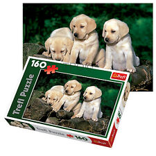Trefl 160 Piece Kids Unisex Cute Puppy Labradors Outdoor Relax Jigsaw Puzzle NEW
