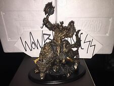 WOW Warcraft Blizzard Veteran 10th Anniversary Orc Wolf Rider Statue NIB 10 year