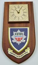 HUMBERSIDE FIRE AND RESCUE SERVICE HAND MADE TO ORDER REGIMENTAL WALL CLOCK
